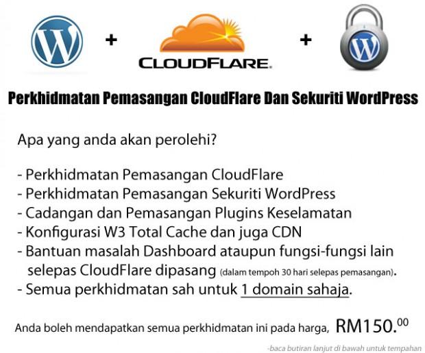 Perkhidmatan Cloudflare WordPress Security