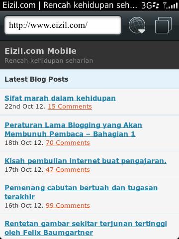 Tema Mobile Eizil.com