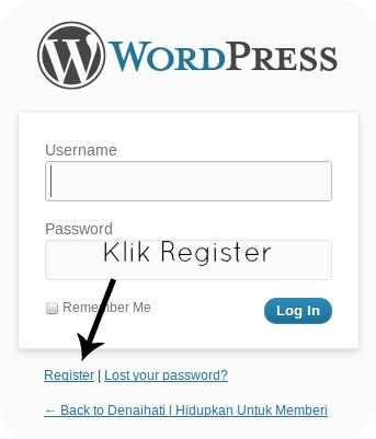 Klik Register