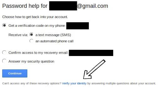 Recover Password Gmail